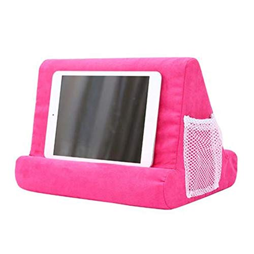 Euopat Pad Pillow, Pad Pillow Stand, Book Rest,Tablet Sofa, Laptop Pillow Holder, Mini Tablet Computer Holder Tablets, E-Readers, Smartphones, For Airplane (Hot Pink)
