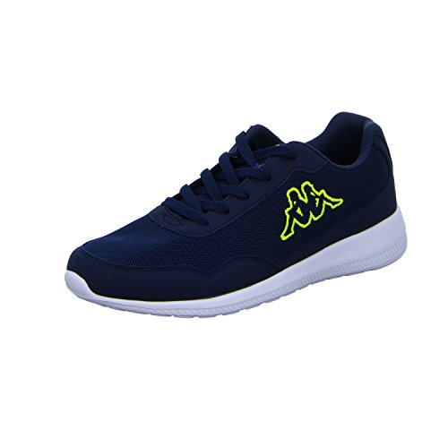 Kappa Unisex-Erwachsene Follow XL Sneaker, Blau Navy Lime 6733, 42 EU