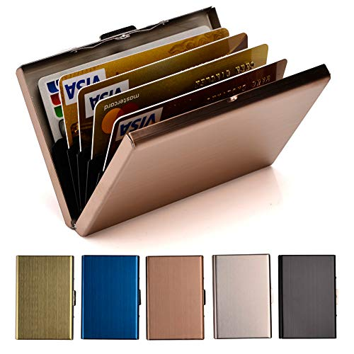 RFID Credit Card Holder Metal Wallet Stainless Steel Credit Card Protector Case Business Card Holder for Men or Women