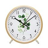ALEENFOON 8.6 Zoll Holz Uhr Modern Leise Wanduhren Tischuhr für Wohnzimmer Küche Ohne Tickgeräusche Innenuhr Nicht Tickende Wanduhren Hängende Uhr (Blatt)