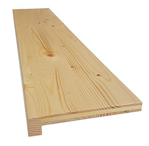 Holz-Projekt-Summer Fensterbank FICHTE Massivholz Treppenstufe Renovierungsstufe Fensterbrett Trittstufe Maßanfertigung (30 x 60cm, Oberfläche geölt)
