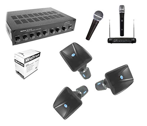 360 Degree Outdoor PA Sound System KIT with 3 Atlas Wide Dispersion Horn Speakers outdoor stage