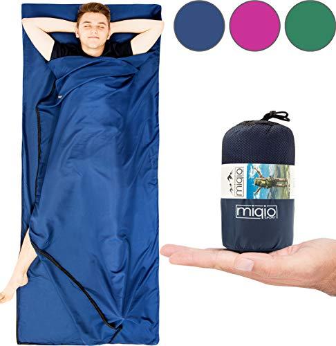 MIQIO Saco dormir forro sábana liviana viaje doble