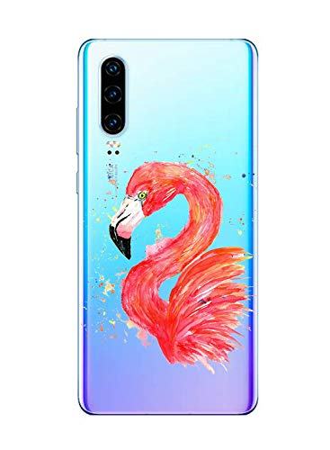 Oihxse Compatible con Huawei P9 Lite 2017 Funda Suave Gel TPU Silicona Cristal Transparente Carcasa Acuarela Animal Pintado Patrón Protectora Estuche Bumper Caso Case (B3)