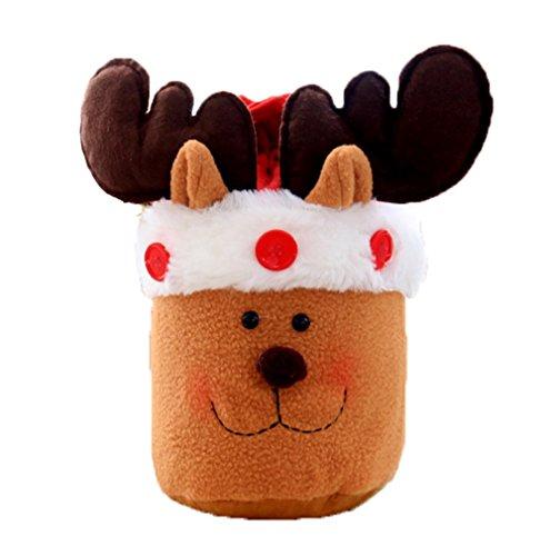 YiyiLai Weihnachten Geschenk Tasche T¡§1te Mit Schelle Weihnachtsdekor Bonbons Tasche Hirsch