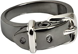 Memorial Gallery Pets 2032Stt-9 Ring Collar Sterling Silver Two Tone Cremation Pet Jewelry, Size 9