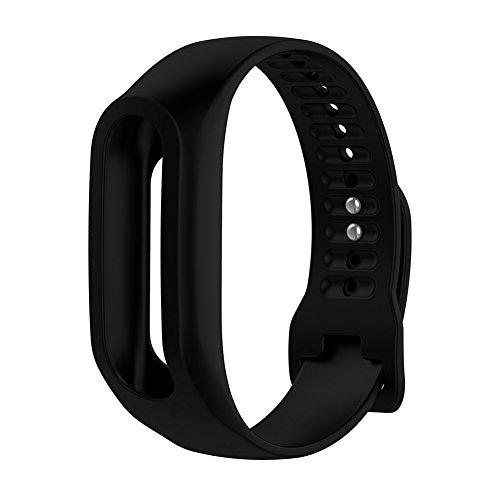 vanpower silicone del cinturino di ricambio per tom tom touch fitness tracker (nero)