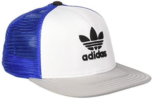 adidas Herren Trefoil Trucker Kappe, blau, OSFY
