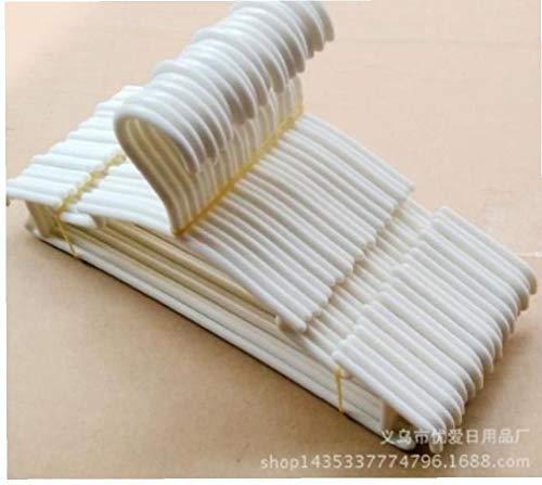 nJiaMe Perchas Cabritos De La Capa del Bebé 10pcs Perchas Blanco De Plástico De Los Niños Perchas Ideal para Todos Los Días Estándar Uso