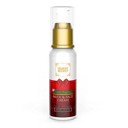 Neck Cream Anti Aging Firming Lotion For Neck amp Face   Anti Wrinkle Cream Moisturizer   Advanced Stem Cell Peptides amp Collagen Formula For Tightening amp Lifting Sagging Skin   2 oz/60ML   Desert Secret