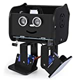 ELEGOO Penguin Bot Biped Robot Kit Compatible with Arduino Project with Assembling Tutorial,STEM Kit for Hobbyists, STEM Toys for Kids and Adults, Black Version