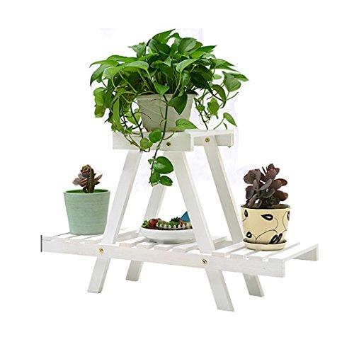 LXF Pots Plante Fleurs Fleur Stand étagère Pot Rack Solide Bois Plancher Multi-couche Balcon Salon Intérieur ( Couleur : Blanc )