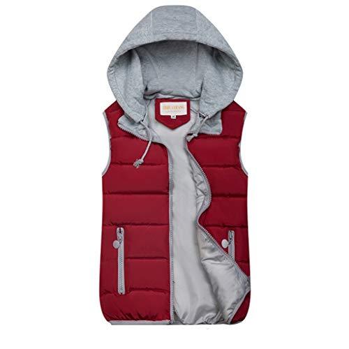 Nyuiuo Mode Frauen Herbst Winter Warme Mantel Weste Wattierte Jacke Damen Weste Weste Kurze Multicolor Warme Weste Frauen Winter Warme Zwei-Wege-Weste Outwear Mantel