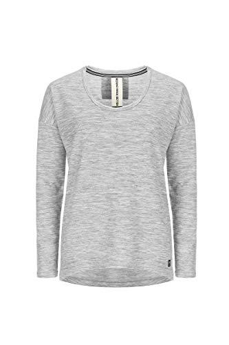 super. Natural W City Over Femme en Laine mérinos T-Shirt L Ash Melange