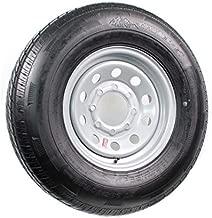 Radial Trailer Tire On Rim ST235/80R16 Load E 8 Lug Silver Modular Wheel