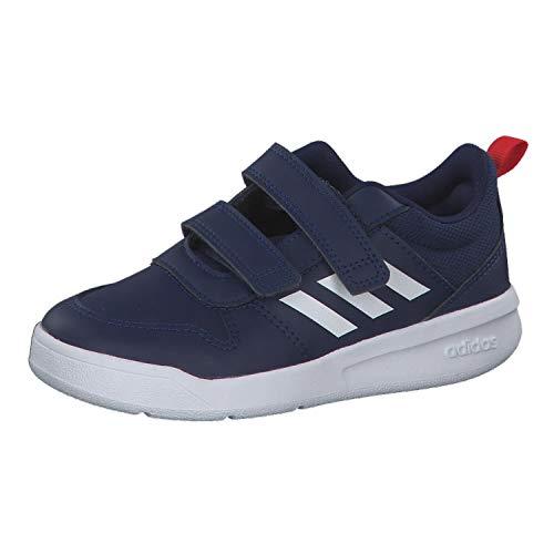 adidas Unisex Kinder Tensaur C Leichtathletik-Schuh, DKBLUE/FTWWHT/ACTRED, 38 2/3 EU
