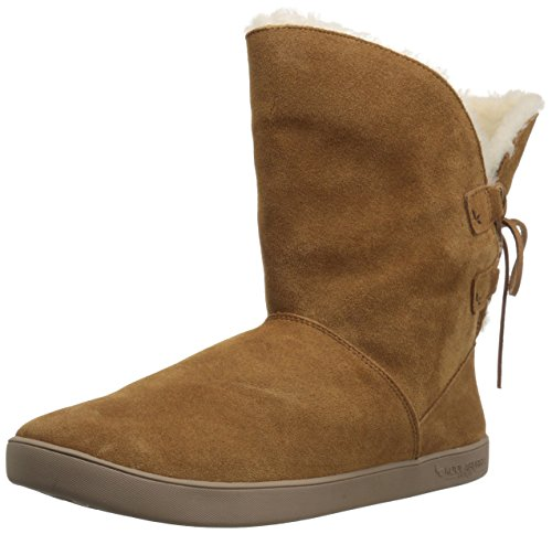 Koolaburra by UGG Women's Shazi Short Fashion Boot, Chestnut, 07 M US