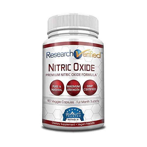 Research Verified Nitric Oxide - with L-Arginine and L-Citrulline - Premium Muscle Building Nitric Oxide Booster - 1 Month Supply