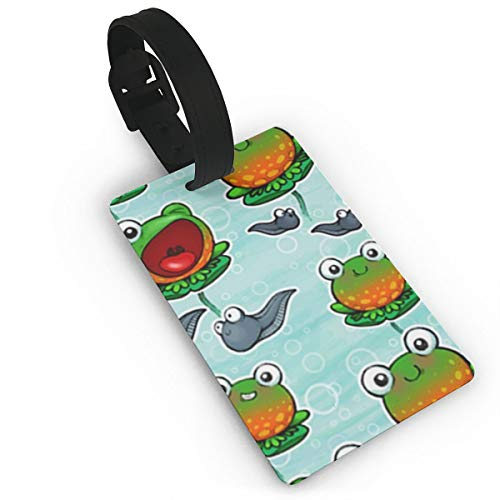 Mark Stars Baby Ditsy Frogs Luggage Tag Pu Leather Bag Suitcases Baggage Label for Children Airlines Baggage Suitcase Labels