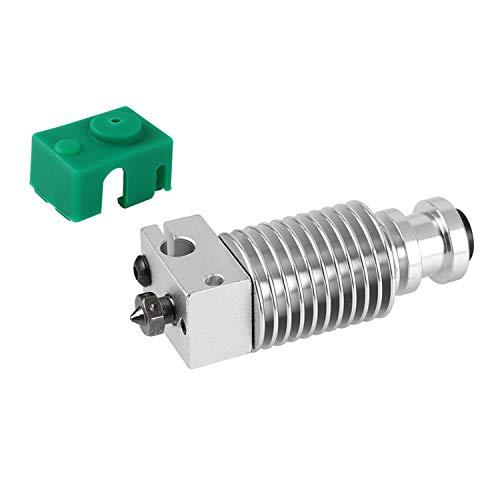 Aibecy Heatsink Extruder Radiator met Collet Clip V6 Nozzle 1.75mm Filament Hotend Compatibel met PT100 Prusa I3 MK3 3D Printer