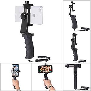 Phone Hand Grip Holder, Fantaseal Smart Phone Handle Handheld Stabilizer Phone Holder Support Selfie Stick Compatible for iPhone X 8+ 8 7+ 7 6S+ 6S 6+ 6 5 5SE 4 Galaxy Note 8 S8 etc Landscape + Portrait Mode Mobile Phone Stablizer:Tudosobrediabetes