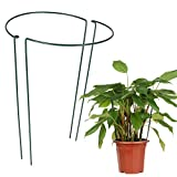 Lot de 2 supports demi-ronds en métal pour bordure de jardin, support de...