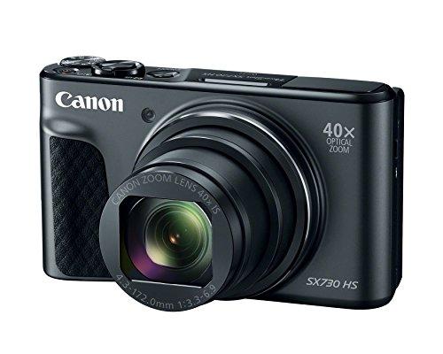 Canon PowerShot SX730 Digital Camera w/40x Optical Zoom & 3 Inch Tilt LCD - Wi-Fi, NFC, Bluetooth Enabled (Black) (Renewed)