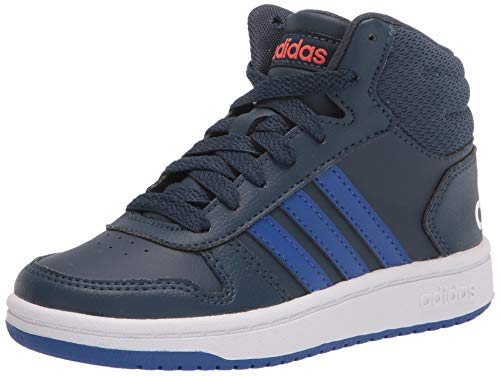 adidas,Unisex-Youth,Hoops Mid 2.0,Crew Navy/Team Royal Blue/White,2
