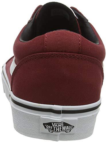 Vans Ward Canvas, Sneaker Uomo, Rosso ((Checker Lace) Rosewood/White W9Z), 42 EU