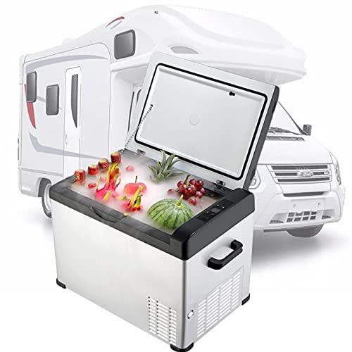 Refrigerador de 12 V para Autocaravana, Refrigerador PortáTil, Refrigerador de Coche De 22 litros, Refrigerador de Compresor para CamióN Autocaravana Barco Camping y Viajes,Blanco,30L