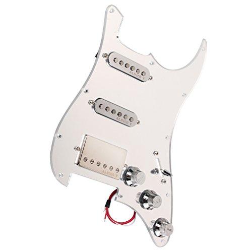 ultnice SSH Pickup Guitar Protector Board 3-Ply prewired Pickguard Guard Plato con Pickup Humbuckers para guitarra eléctrica