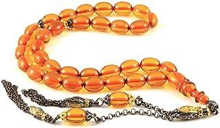 Islamic Prayer Beads Sebha Natural Amber Bakelite Prayer Beads Muslim Misbaha Gemstone Tasbeeh - سبحة من الكهرمان الباكليت