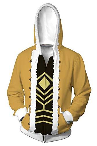 Hawks Cosplay Hoodie Jacket Sweatshirt Anime Red Wings Pullover Shirt Coat Halloween Costume Unisex (Medium, Zipper)