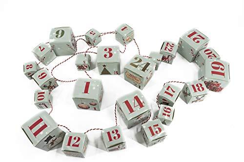Bambelaa! Cajas Plegables para Calendario de Adviento, 24 Cajas de Navidad, Cajas Plegables para Colgar, Cuerda para Rellenar, para Navidad