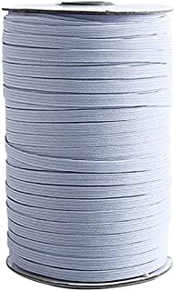 CSVK 200 Yards Length 1/4 Inch Width Elastic Band, Heavy Stretch Elastic Rope, Elastic Spool for Sewing, White