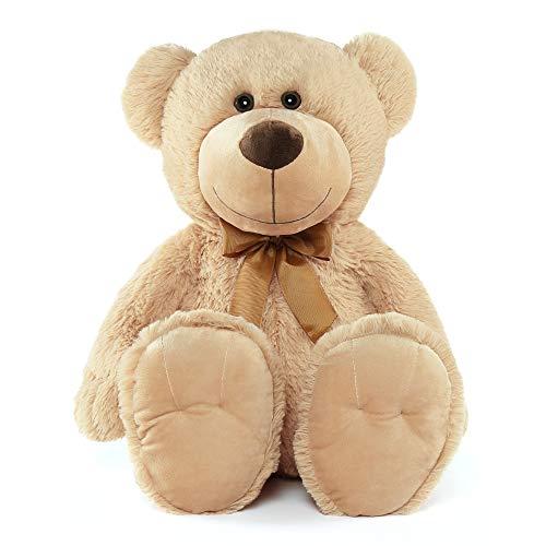 Tezituor Big Teddy Bear Stuffed Animals Tan 26 Inch, Soft Teddy Bear Plush Toys for Girlfriend Kids