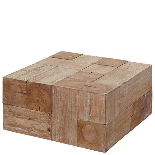 Mendler Couchtisch HWC-A15c, Wohnzimmertisch, Tanne Holz rustikal massiv 30x60x60cm