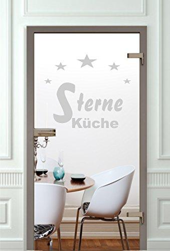 rs-interhandel® Glastür Aufkleber Tattoo Folie Glasdekor Fensterfolie Sichtschutz Wohnzimmer, Küche oder für alle Glasflächen Sichtschutzfolie für Türen GD572
