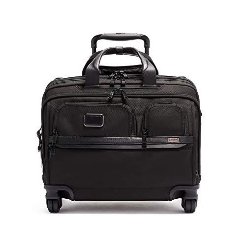[トゥミ] スーツケース ソフト 公式 正規品 TUMI Alpha 3 デラックス・4ウィール・ラップトップ・ケース・ブリーフ 機内持ち込み可 保証付 44L 39.5 cm 5.5kg Black