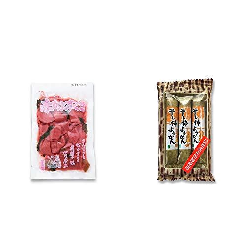 [2点セット] 赤かぶすぐき(160g)・信州産市田柿使用 スティックようかん[柿](50g×3本)