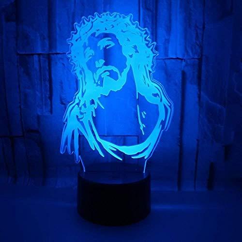 Comercio Exterior Nuevo Jesús 3D Luz Nocturna Toque Colorido Control