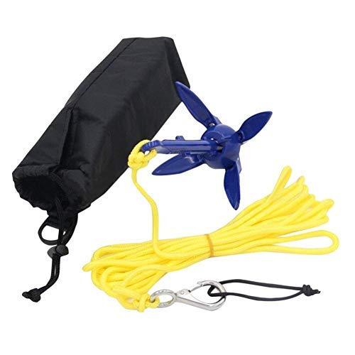 Ancla para kayak, kit de anclaje, anclaje para barcos Paddle Board y pequeños barcos Fineshelf para barcos marinos Yacht Jet Ski barco de vela
