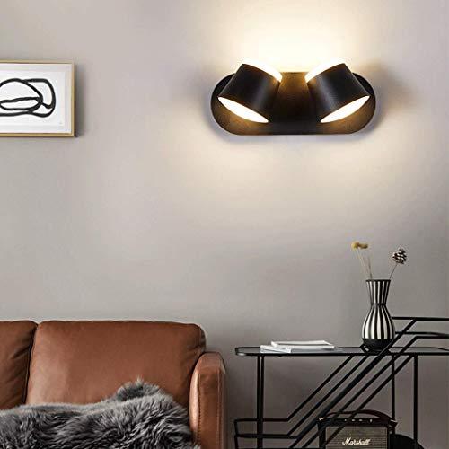 BBNBY Apliques de Pared LED de 10 W para Dormitorio, lámpara de Pared de Metal Moderna, 350 & deg;Rotación, diseño de iluminación hacia Arriba y hacia Abajo, lámpara de Noche para niños, Pasillo,