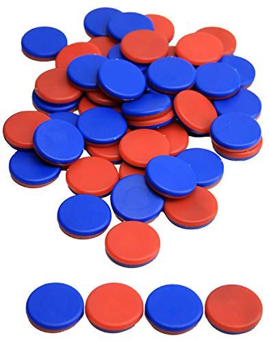 Wissner aktiv lernen 080810.IMP - RE Plastic Wendeplättchen, 50 Zählchips in rot/blau, Durchmesser 2,5 cm und 0,5 cm stark, ideal für Kinderhände, nachhaltig hergestellt