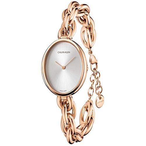 Calvin Klein Damen-Uhren Analog Quarz One Size Rosé Edelstahl 32011476