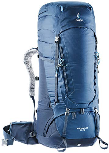 Deuter Aircontact 75 + 10 Sac à dos loisir 90 centimeters 75 Bleu (Midnight-Navy)
