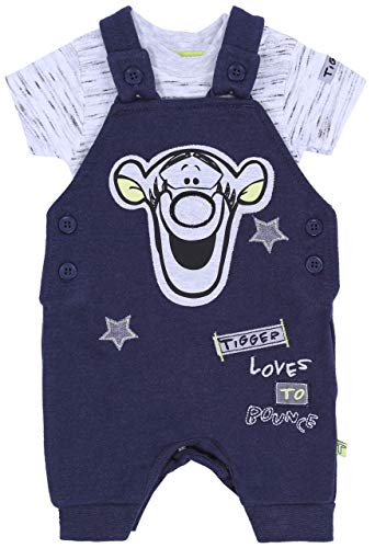Dunkelblaue Latzhose + Body Tiger Disney 9-12 Monate