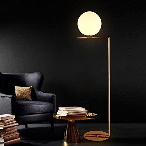 ZIXUANJIAXL Stehende Stehlampen Modernes Minimalist Glaskugel Vertikal Licht Nordic Personality Schlafzimmer Nacht Wohnzimmer Kugelstehlampe Stehlampe