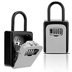 ✔Convenient: After you bought this key lock box no need put your keys under the carpet or flowerpot for hiding.Just tell your 4-digit combination to people who you allowed them get into your house ✔Security:Combination lockbox was made of high streng...