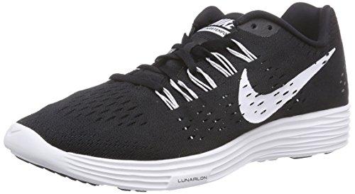 Nike LunarTempo Herren Laufschuhe, Schwarz (001 BLACK/WHITE-WHITE), 47 EU